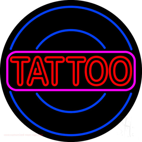 Round Tattoo Neon Sign