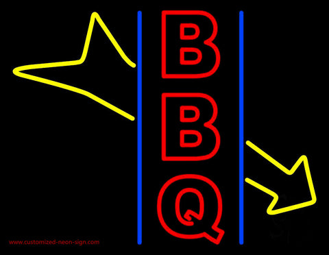 Red BBQ With Arrow Neon Sign