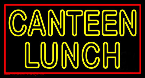 Double Stroke Canteen Lunch Neon Sign