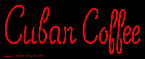 Red Cuban Coffee Neon Sign