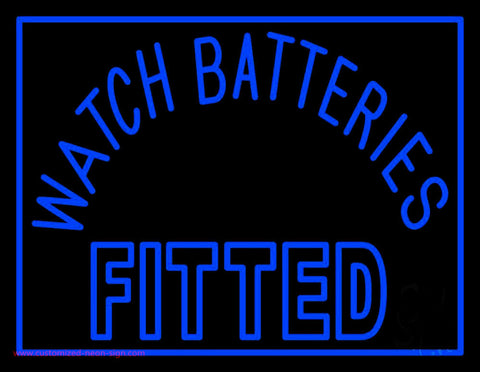Watch Batteries Fitted Neon Sign