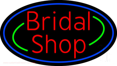 Oval Bridal Shop Neon Sign