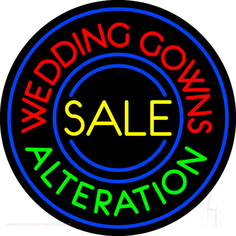 Circle Wedding Gowns Alteration Neon Sign