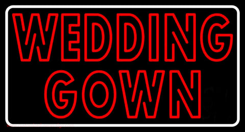 Double Stroke Wedding Gown Neon Sign