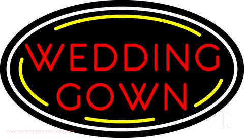 Oval Wedding Gown Neon Sign