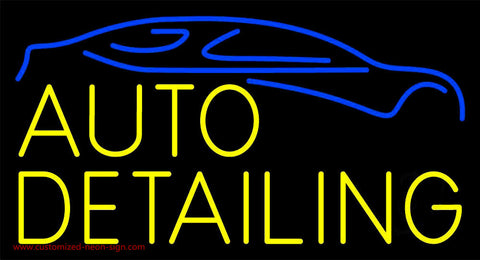 Yellow Auto Detailing 1 Neon Sign