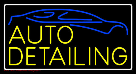 Yellow Auto Detailing Neon Sign