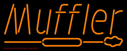 Orange Muffler With Logo Neon Sign