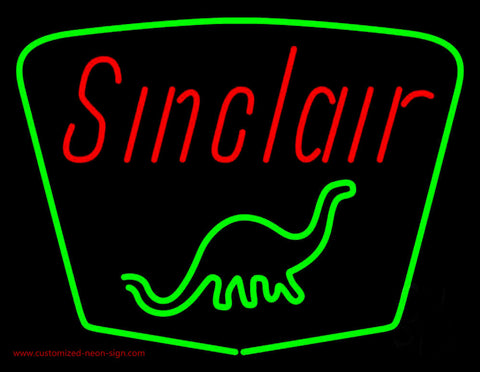 Sinclair Gasoline With Logo Neon Sign