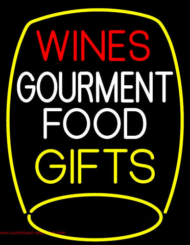 Wines Food Gifts Neon Sign