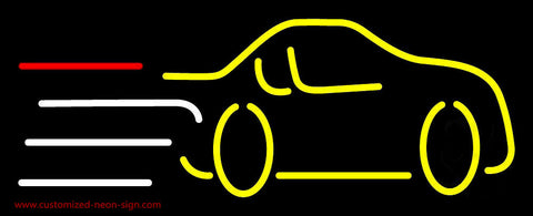 Yellow Car Logo Neon Sign