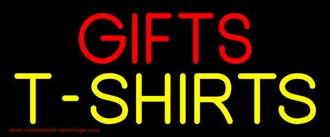 Red Gifts Yellow Tshirts Neon Sign