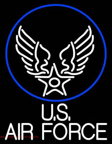 Us Air Force With Circle Neon Sign