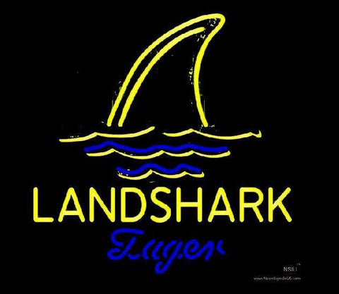 Jimmy Buffett Landshark Lager Beer Handmade Art Neon Sign