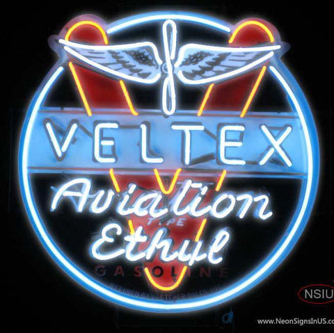 Veltex Aviation Gasoline Neon Sign