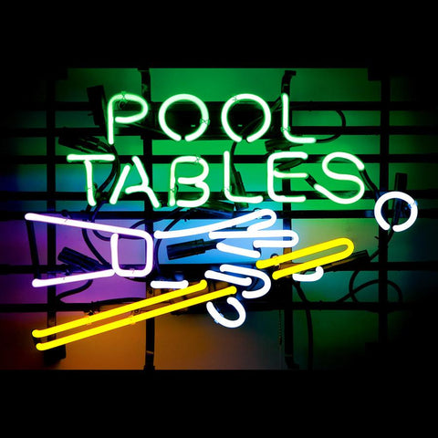 Pool Tables Handmade Art Neon Sign