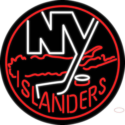 New York Islanders Logo NHL Neon Sign
