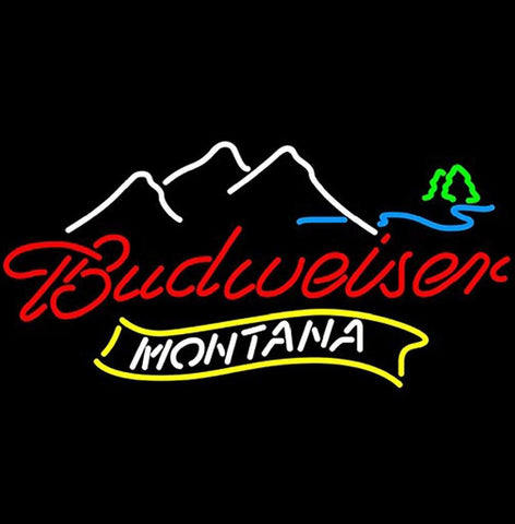 New Montana Mountain Budweiser Neon Light Sign