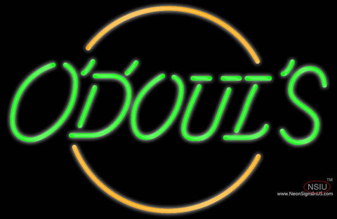 Odouls Round Neon Beer Sign