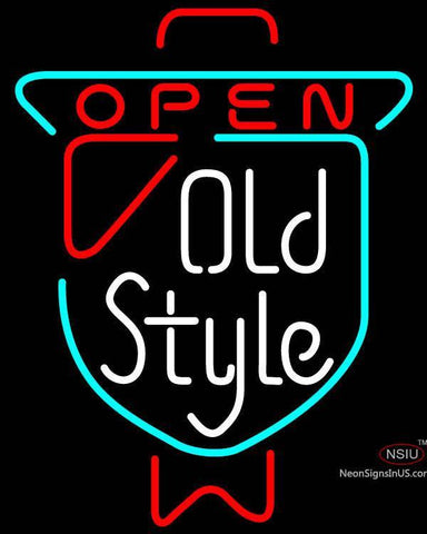 Old Style Open Neon Beer Sign