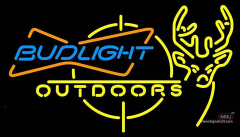 Outdoors Deer Hunting Bud Light Neon Sign