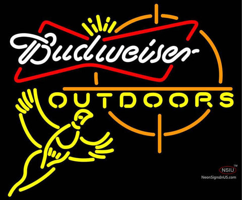 Budweiser Outdoors Pheasant Hunting Neon Beer Sign