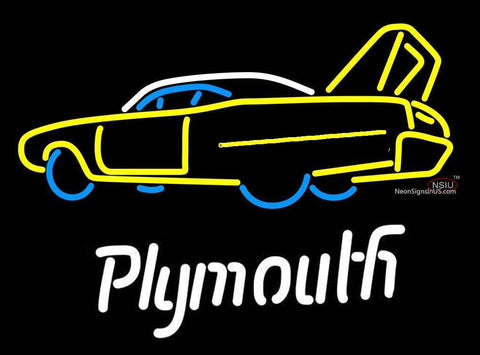 Plymouth Roadrunner Superbird Handmade Art Neon Sign