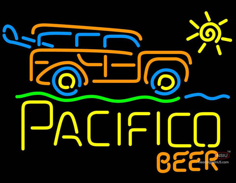 Cerveza Pacifico Sun Bus Neon Beer Sign