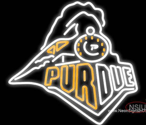 Purdue University Train Logo Neon Sign