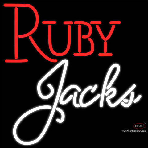 Ruby Jacks Neon Sign x
