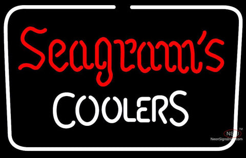 Seagrams Coolers Neon Beer Sign