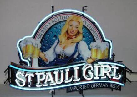 St Pauli Girl Handmade Art Neon Signs