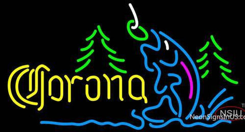 Corona Fishing Lake Neon Beer Sign