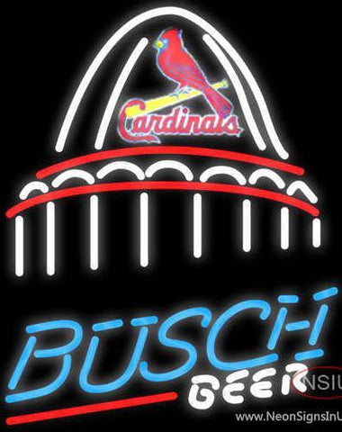 Busch St. Louis Cardinals Stadium Neon Beer Sign