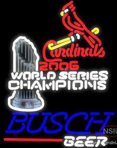 Busch St. Louis Cardinals Champions Beer Sign