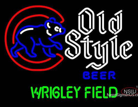 Old Style Walking Cubby Wrigley Field Version Neon Sign