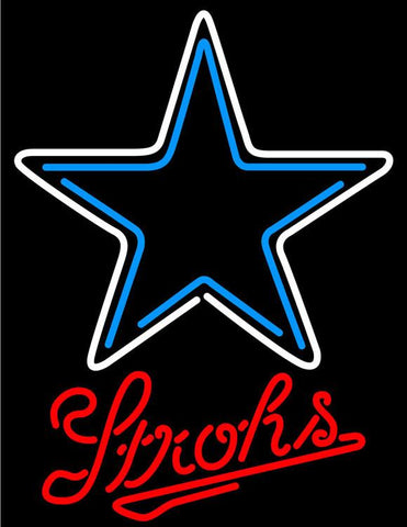 Strohs Dallas Cowboys NFL Beer Neon Sign