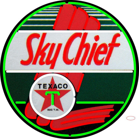 Texaco Sky Chief Gasoline Neon Sign
