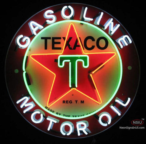 Texico Gasoline Neon Sign