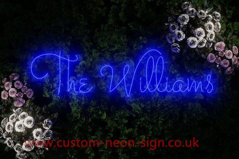 The Williams Wedding Home Deco Neon Sign