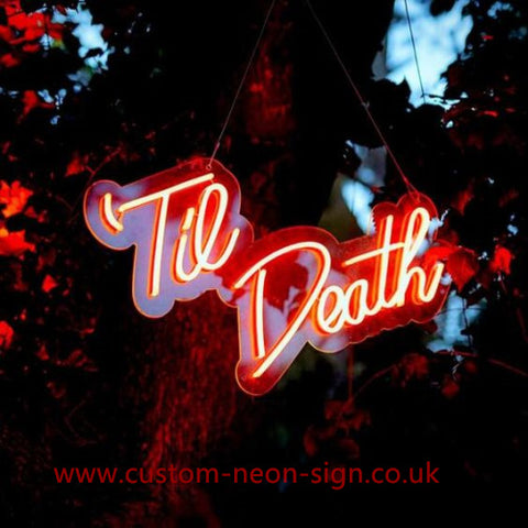 Til Death Wedding Home Deco Neon Sign
