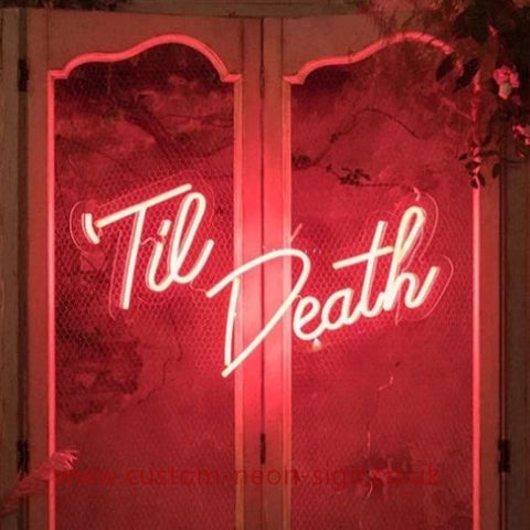 Til Death Red Color Wedding Home Deco Neon Sign