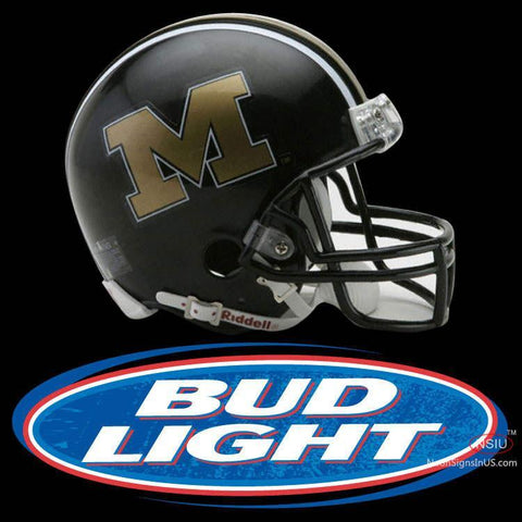 University Of Missouri Tigers Football Helmet Bud Light Neon Sign