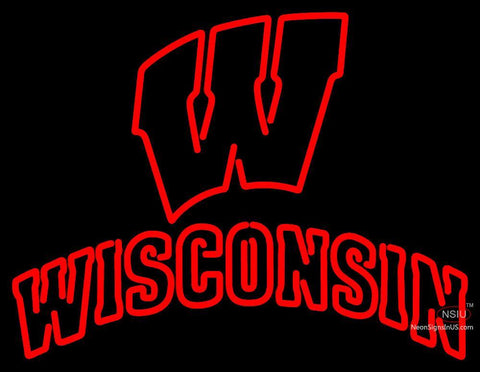 Wisconsin Badgers Alternate  Pres Logo Ncaa Neon Sign