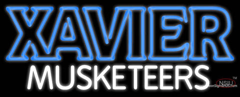 Xavier Musketeers Wordmark  Pres Logo Ncaa Neon Sign