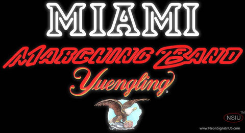 Yuengling Miami UNIVERSITY Band Board Neon Sign