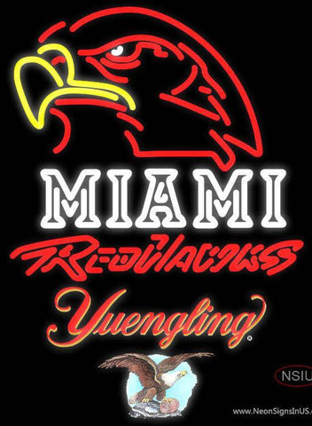 Yuengling Miami UNIVERSITY Redhawks Neon Sign