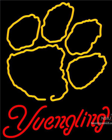 Yuengling Neon Clemson UNIVERSITY Tiger Print Neon Sign