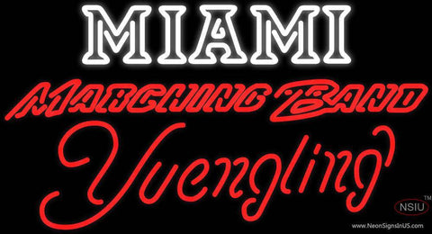 Yuengling Neon Miami UNIVERSITY Band Board Neon Sign