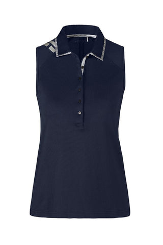 Rohnisch Cissi Sleeveless Polo Shirt - Stream - SS2016